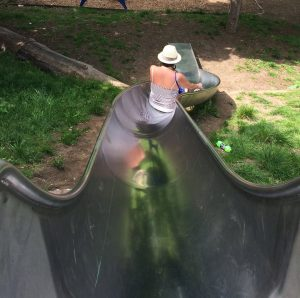 Born again Swindonian on a slide