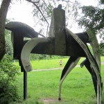 white horse pacified - public art