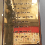 brass plaque v shop swindon outlet centre
