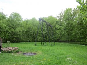 The Wish Hounds - sculpture of large black dogs