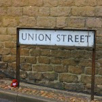 Street sign - Union St Swindon