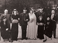 photograph of 1940s wedding group