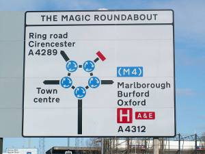 The Magic Roundabout road sign