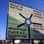 road sign swindon poetry festival