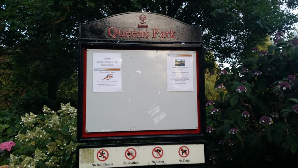 Queens Park sign