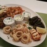 Swindon Greek restaurant -Hot meze platter - the greek olive restuarant