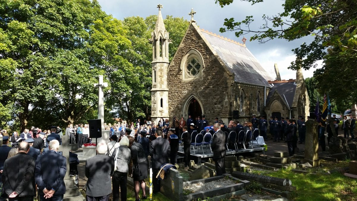 a chapel with guard of honour - radnor street swindon
