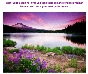 image of lake and mountains - buteyko breathing method from Body Mind Coaching
