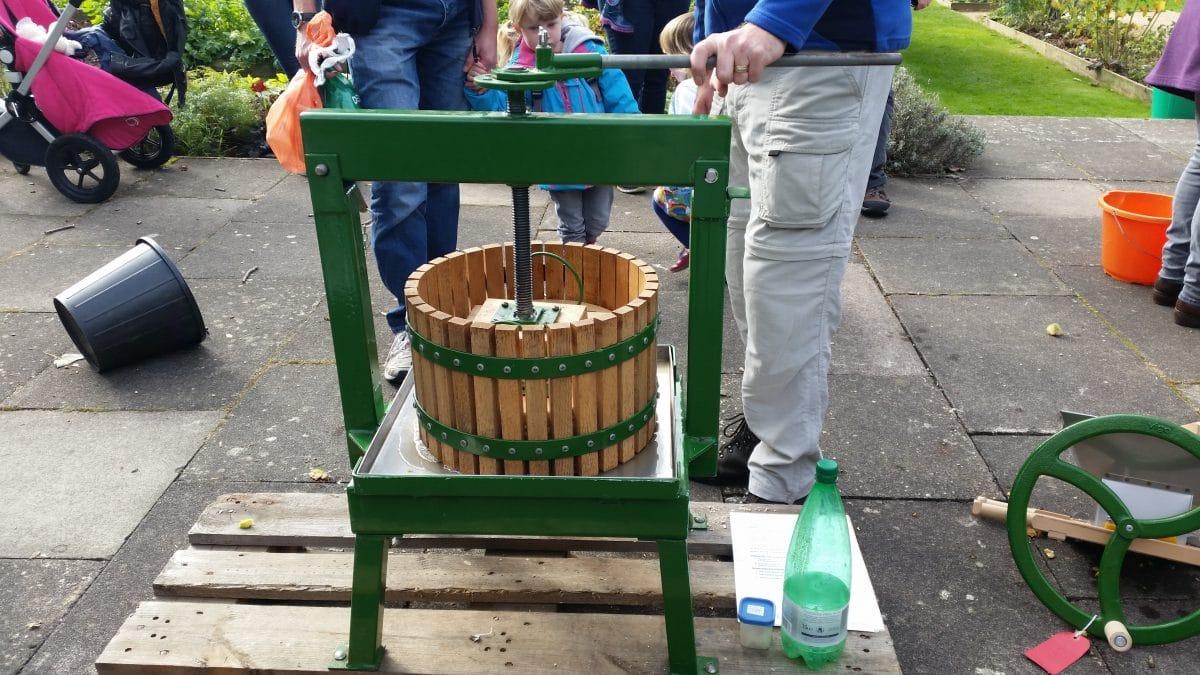 an apple press