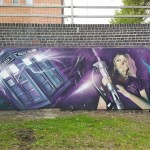 mural Rose Tyler - Dr Who cambria bridge