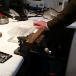 a vice and a workbench