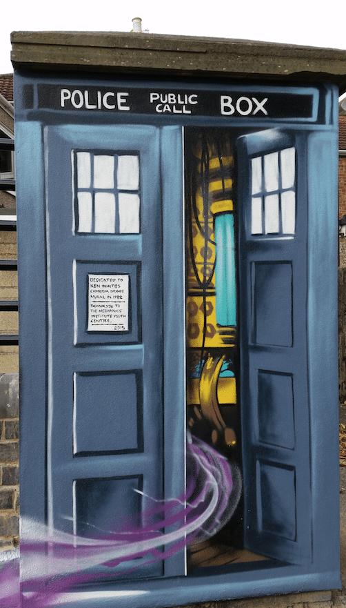 TARDIS Cambria street mural