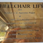 wheelchair plaque