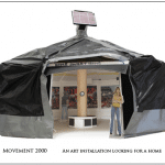 model of round tent structure