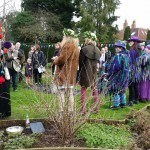 Singing the wassail carol