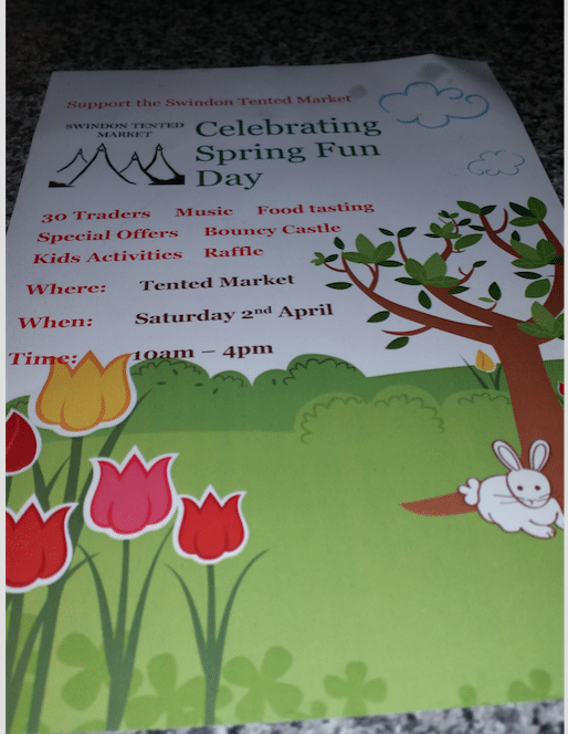 Spring Fun day at the tented market – Saturday 2nd April