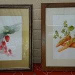 Fruit and veg paintings