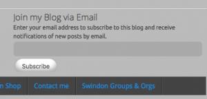 screen shot from blog menu bar