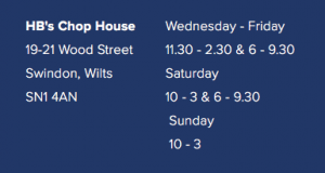 opening hours Helen Browning's Chop House in Swindon
