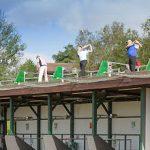 Broome driving range roof