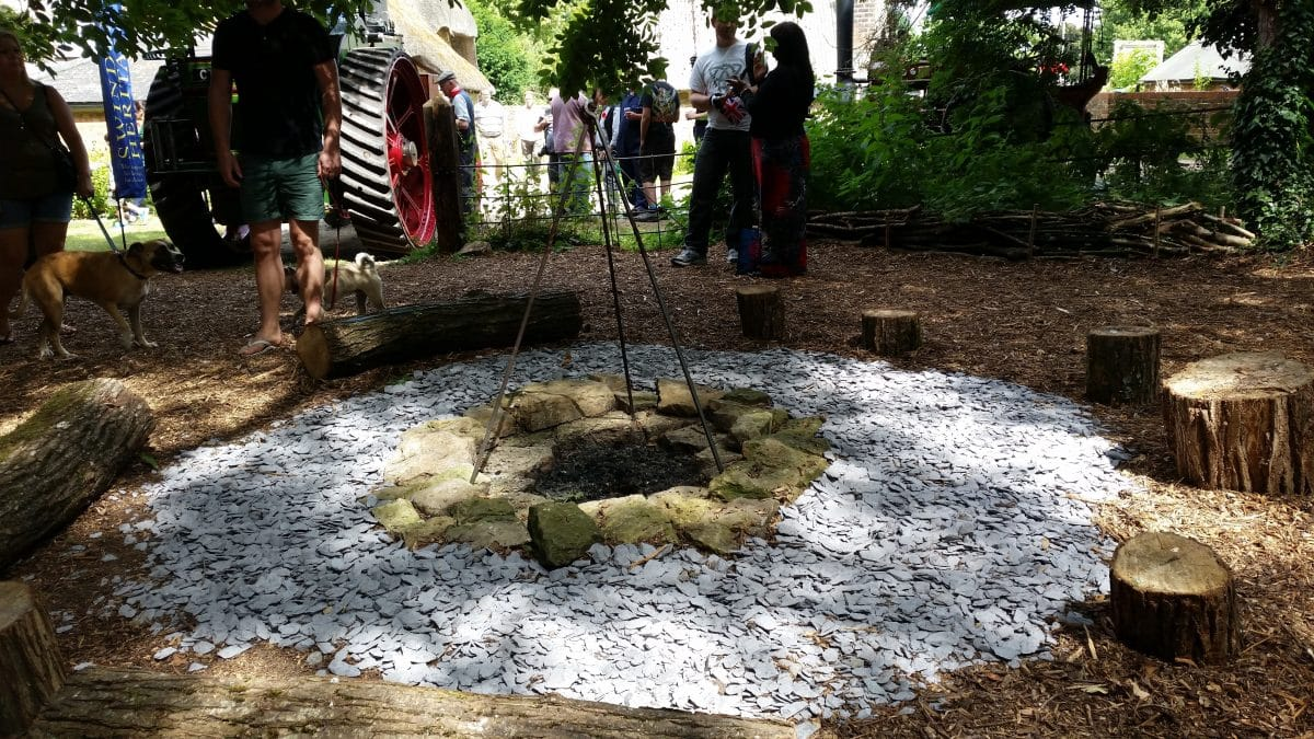 Fire pit in RJ museum garden
