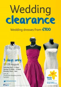 Marie Curie wedding shop