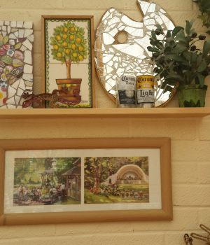 paintings and mosaic