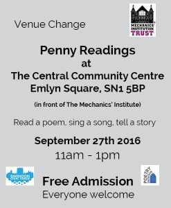Penny readings poster