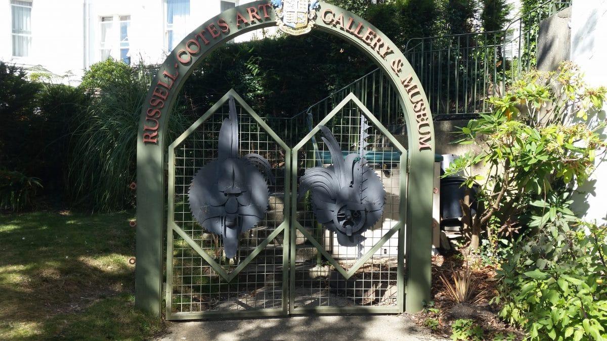 Gates in garden