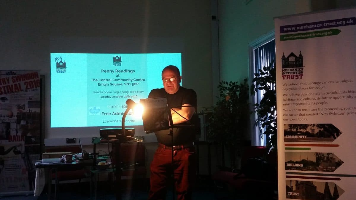 Simon Webb at the Penny Readings