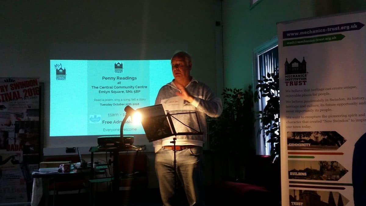 Royston reads his poem