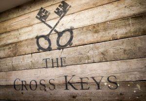 crossed keys on boards