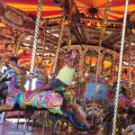 Born again Swindonian goes crazy on a carousel