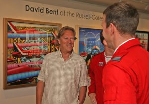 David Bent chats to member of Red Arrows - David Bent at Russell-Cotes