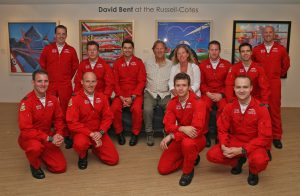 David and Carole Bent with the Reds - David Bent at Russell-Cotes