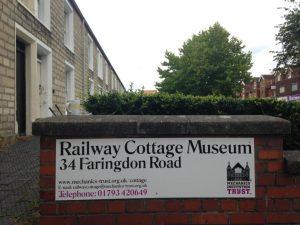 signage on the railway cottage