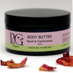 pink and green body butter