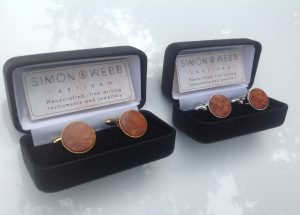 cufflinks amboyna-in-gold-silver