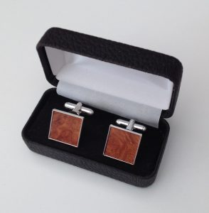 Plain square cufflinks