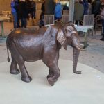 a bronze version of hoarusib elephant