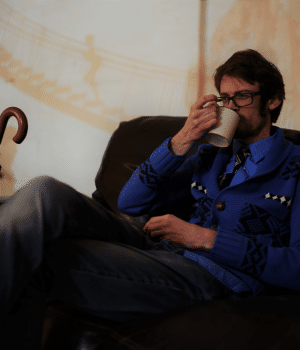 Dan Rivers ends a busy night at The Bohemian Balcony with a cuppa.