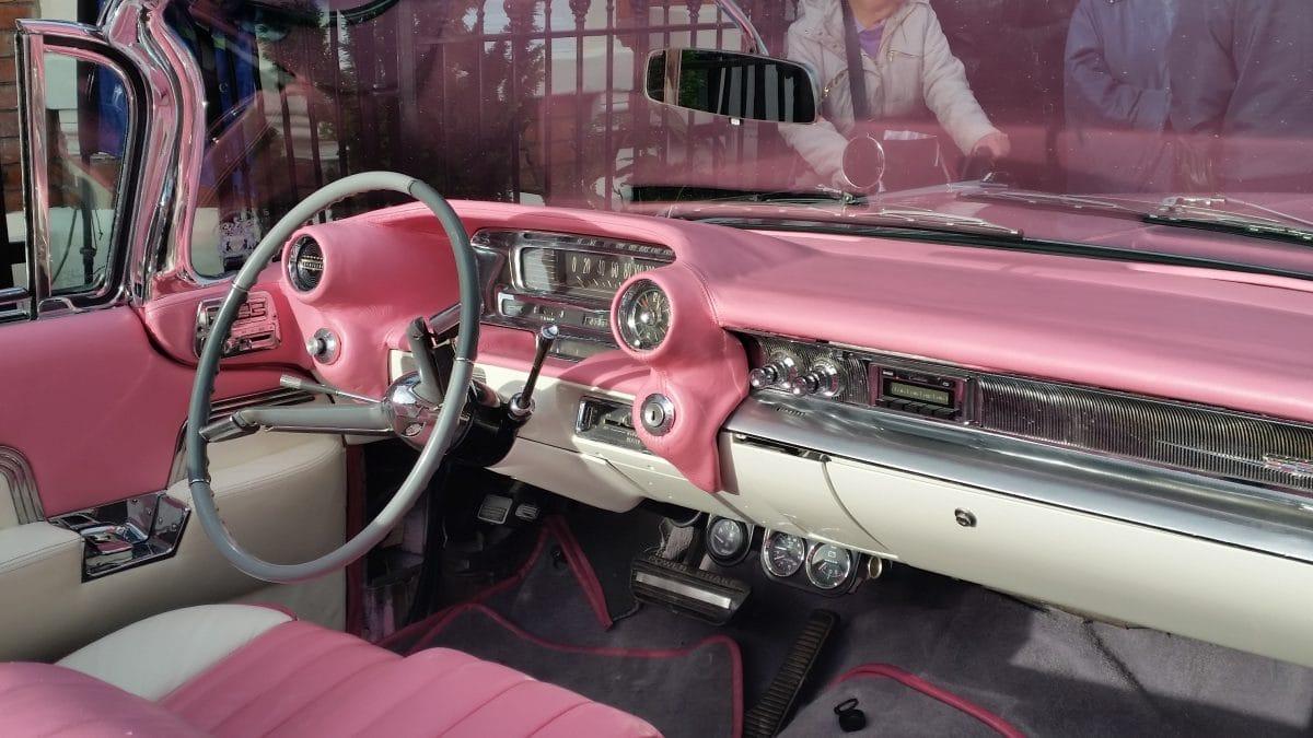 Steering wheel of Cadillac