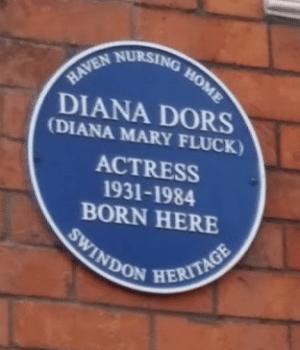 Diana Dors blue plaque