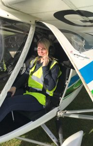 Louise in the aircraft!