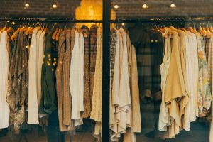 Reshma Field: Personal Stylist clothes on a rail