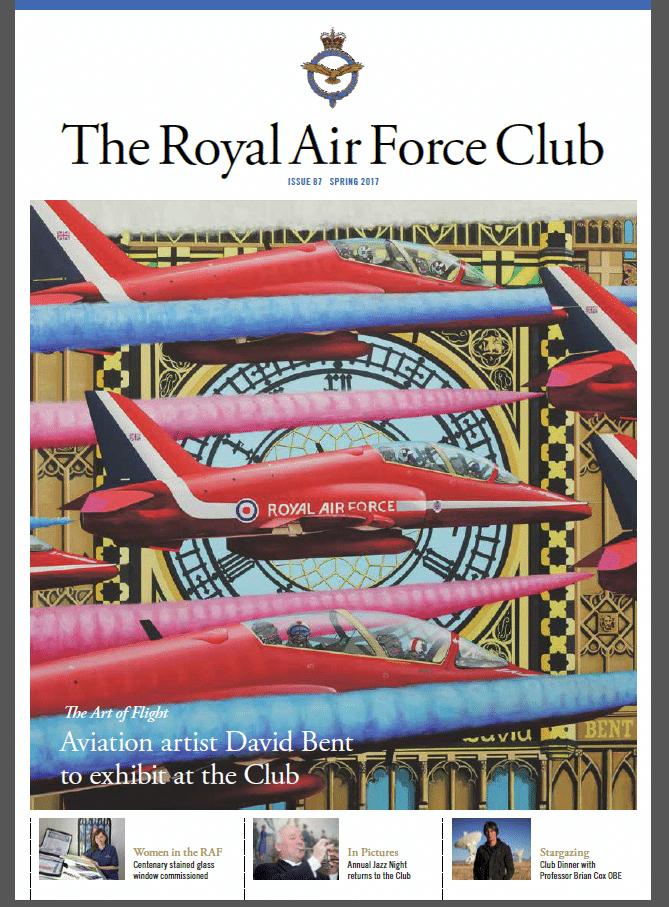Art of Flight RAF club - David Bent exhibits at RAF club