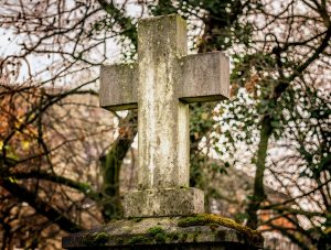 Stone cross - dying matters awareness week