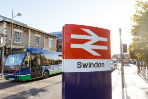 Swindon station sign - born again swindonian background