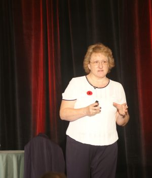 Helen presents at a 2016 Canadian conference