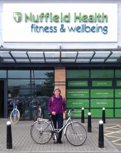 Julie outside the Nuffield Gym